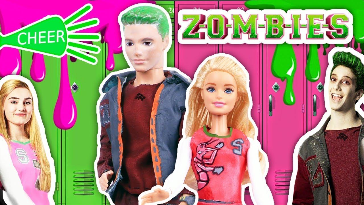 Disney Zombies Dolls Barbie Ken Transform Into Addison And Zed