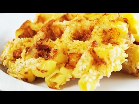 How to Make Waffle Iron Mac N Cheese