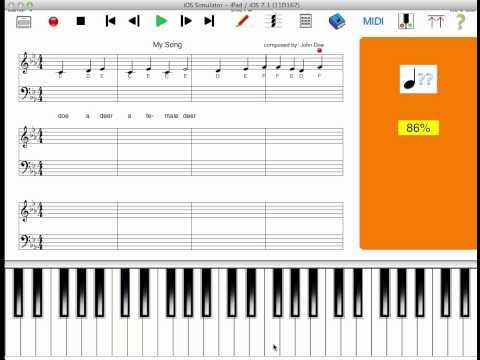 MusicWriter app for iPad