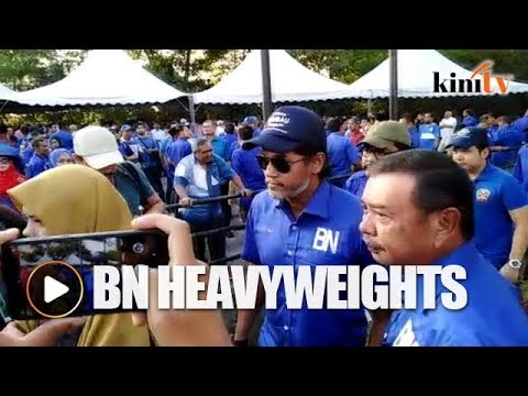 Khairy, Zambry arrive to support BN candidate ahead of nomination