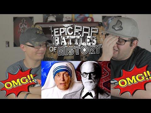 Epic Rap Battles of History: Mother Teresa vs. Sigmund Freud REACTION