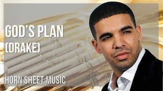 EASY Horn Sheet Music: How to play God's Plan by Drake