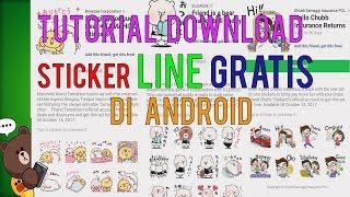 Video (Tutorial) Cara Download Sticker LINE Gratis di Android 2017/2018 - TERBARU download MP3, 3GP, MP4, WEBM, AVI, FLV Agustus 2018