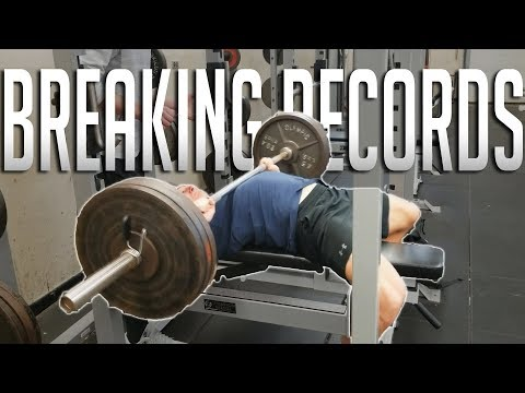 BREAKING MY HIGH SCHOOL'S LIFTING RECORDS   Quick Ab Workout Routine