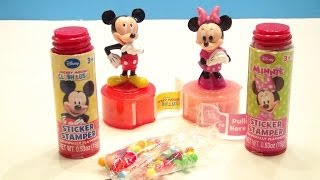 mickey mouse clubhouse sticker stamper candy and minnie mouse bow tique video