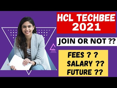 Hcl techbee early career program 2021 review    Hcl techbee fee structure   Future in Hcl techbee  