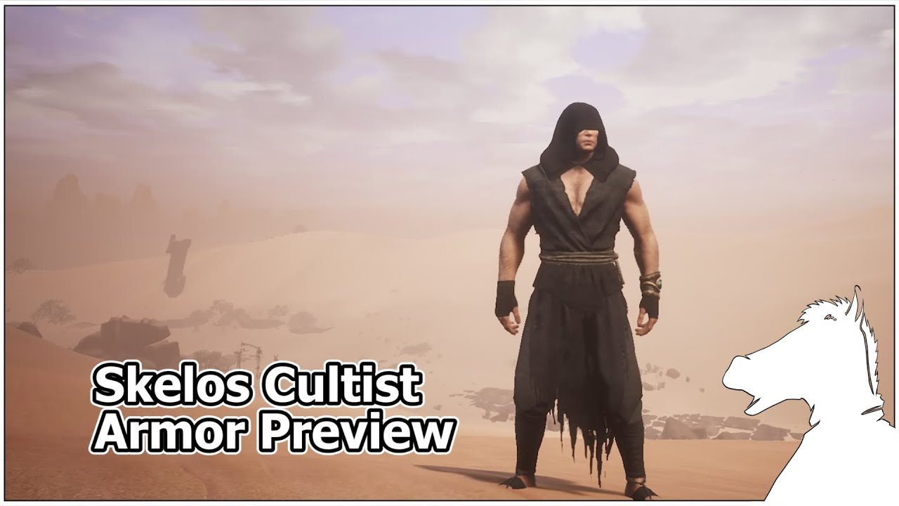 Skelos Cultist Armor Preview | CONAN EXILES by Just Horse