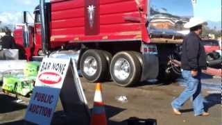 Straight Piped Dump Truck with Pup Trailer