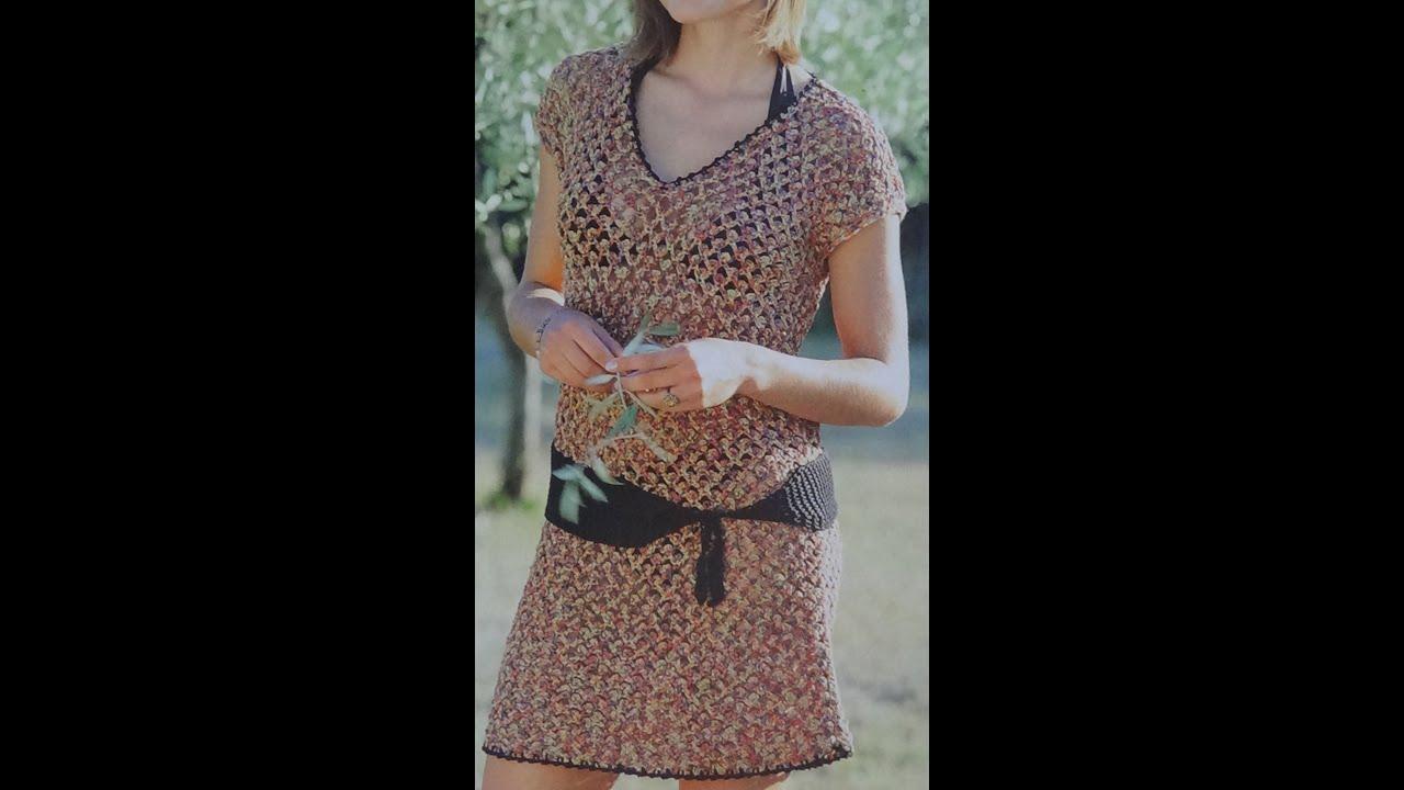 Como hacer vestido f cil tejido a crochet youtube - Ideas para hacer ganchillo ...