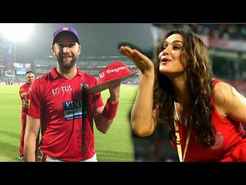 DD vs KXIP:Preity Zinta Enjoying With Andrew Tye Purple Cap holder after a thrill Win | IPL 2018 thumbnail