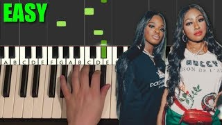City Girls - Act Up (EASY Piano Tutorial Lesson)
