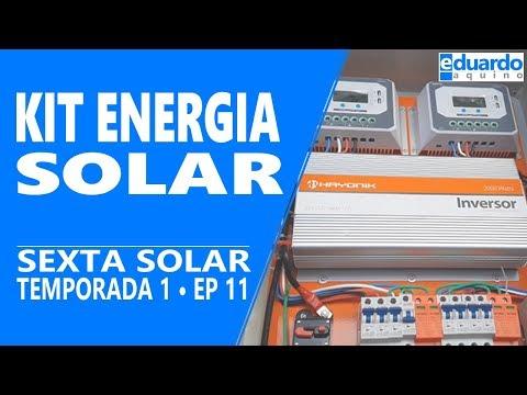 Kit Energia Solar Fotovoltaica Off Grid Montado Com Painéis de 260 watts