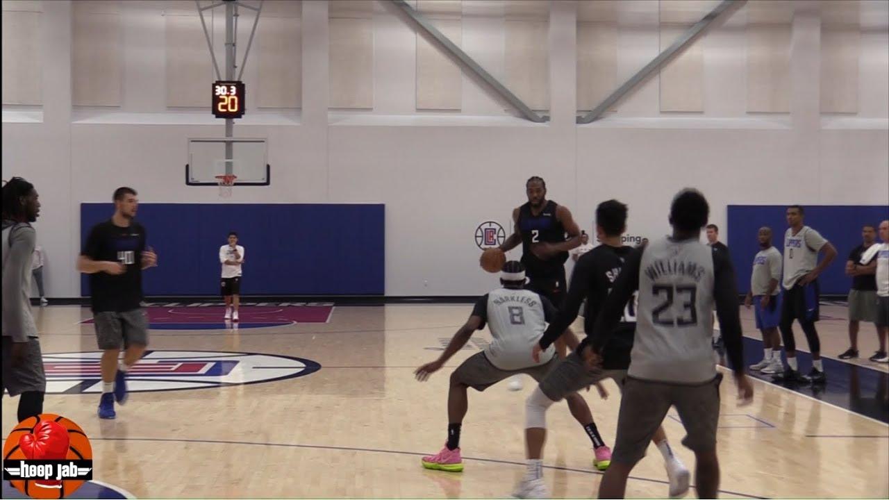 La Clippers 2019 Scrimmage Kawhi Leonard Vs Lou Williams Starters Vs Bench Hoopjab Nba Youtube