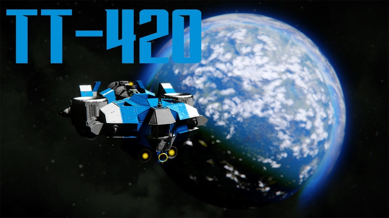 Space Engineers Tt 420 Freighter Review Youtube