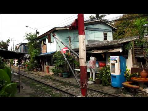Signal box and Neals ball Token passing at SRT [State Railway of Thailand] Mae Nam railway station