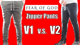 Fear of God inspired H&M Twill Zipper Pants | VERSION 2 Review & Comparison