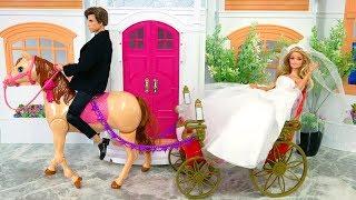 Getting Ready for Barbie Wedding Day! Barbie Wedding Dress Gaun pengantin Barbie Vestido De Noiva