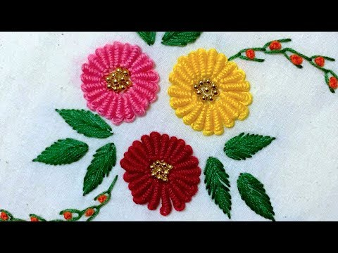 Hand Embroidery: Bullion Knot Stitch Variation