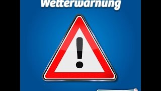 Wie wirds Wetter, Werner? Am 25. Juli 2015 mit Sturmwarnung und Unwetter
