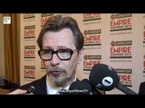 The Dark Knight Rises Bane's Voice Issues - Gary Oldman Interview - Empire Awards 2012