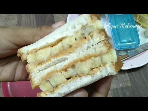 Peanut butter sandwich full of energy for pregnant ladies | Aqsa Mehmood