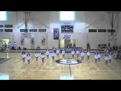 All Saints Episcopal School Varsity Cheer routine TVS pep rally