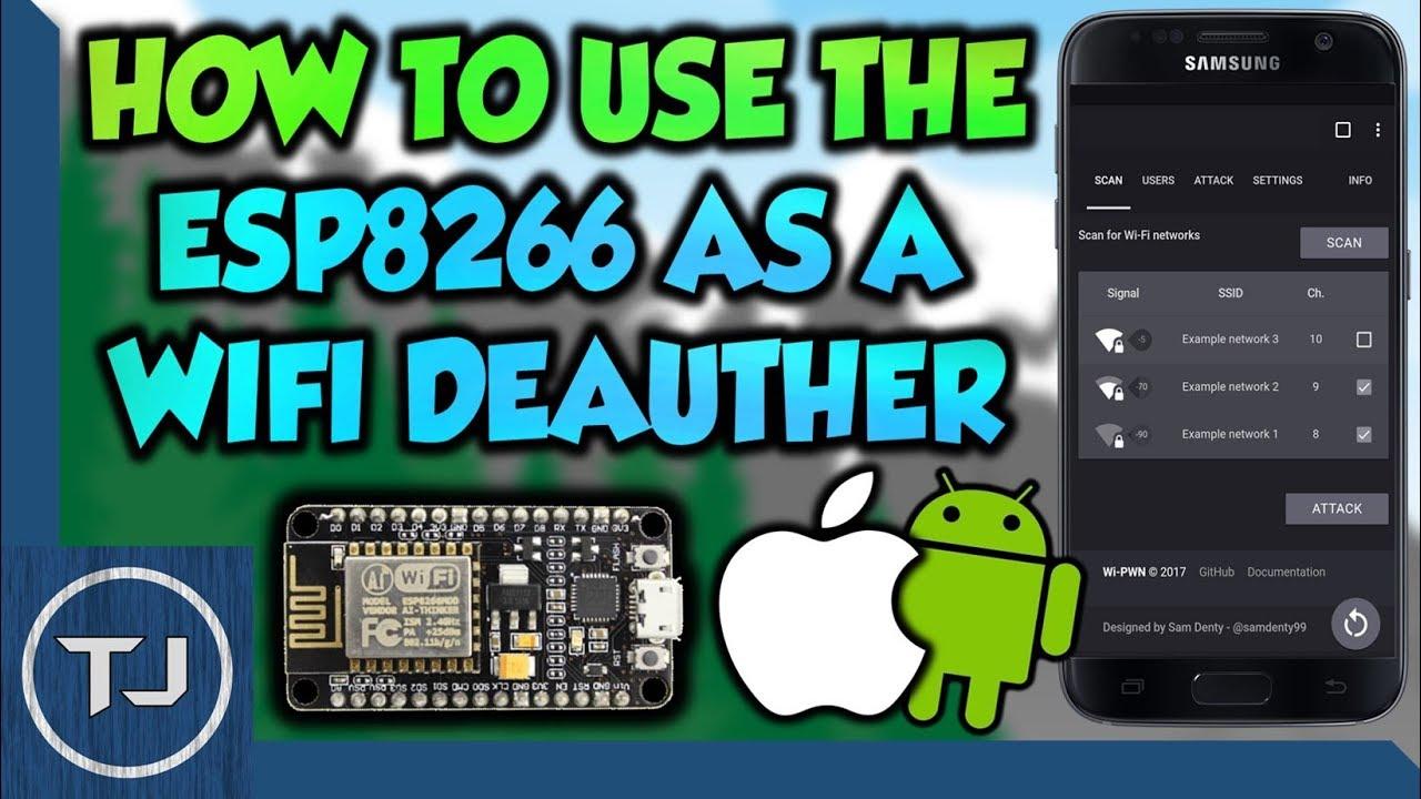 The $4 NodeMCU ESP8266 Wi-Fi Jammer Setup! (iOS & Android)