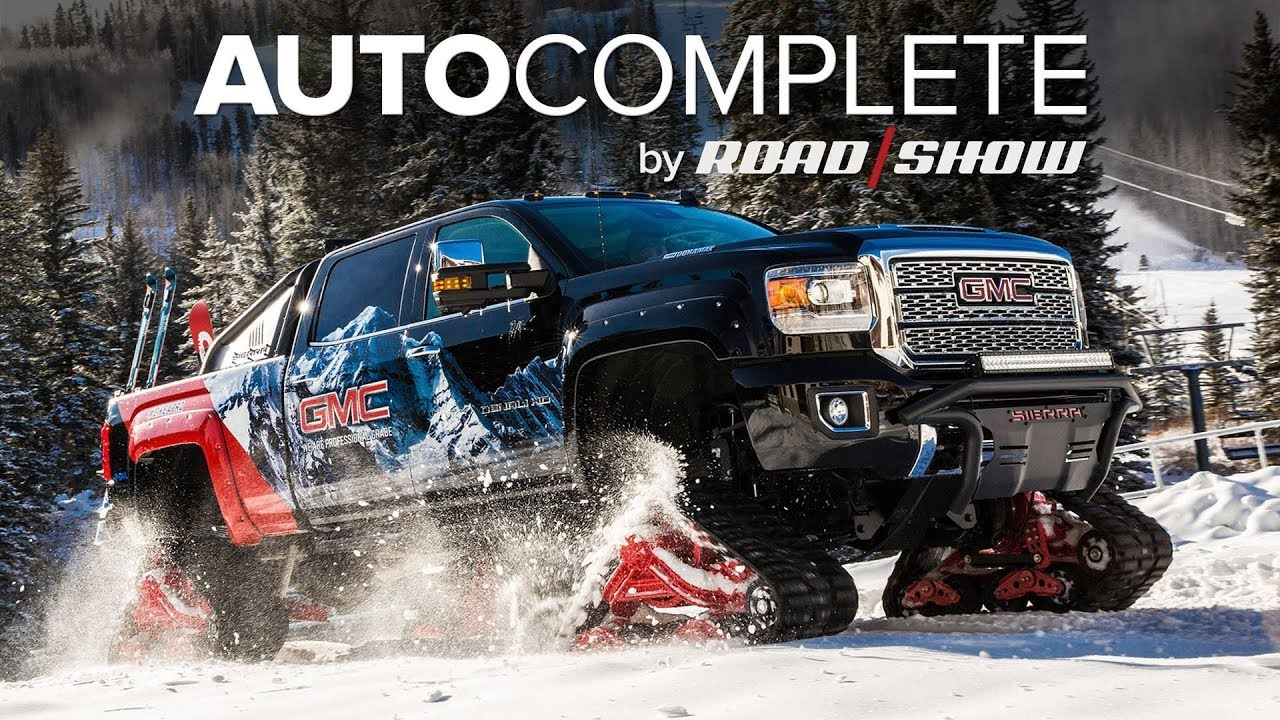 hight resolution of autocomplete gmc sierra all mountain concept tackles the snow with ease