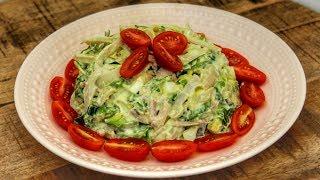 Салат из Кальмаров | Простой Рецепт | Знаем что готовить !