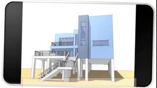 Blue Modern Home Floor Plans