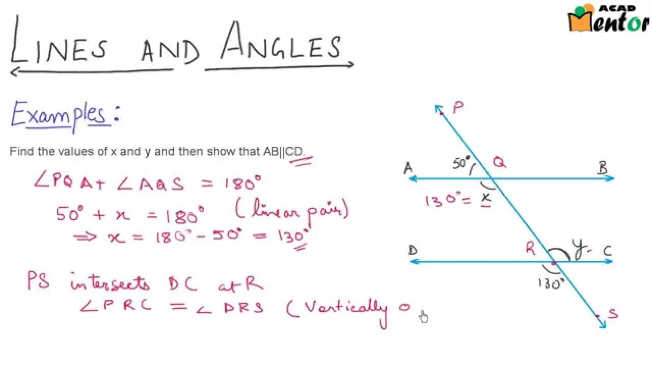 Line Art With Lines And Angles : Parllel lines and a transversal examples