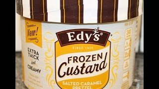 Edy's Frozen Custard: Salted Caramel Pretzel Review