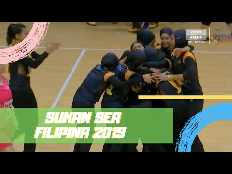 Emas!!! Final Bola Jaring   Malaysia 48-42 Singapura   Sukan SEA 2019   Astro Arena
