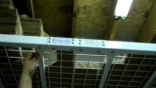 Strong Overhead Garage Storage Rack Wall Mountable 1000lb Capacity