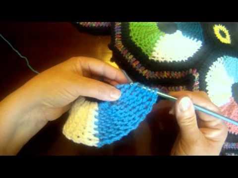 Crochet Lattice Stitch for Wheel Afghan