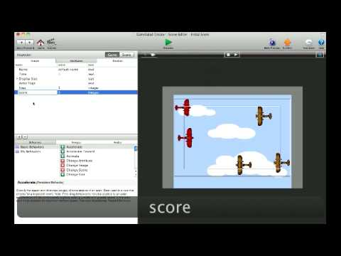 How-To Create, Display, and Add to a Player Score in Gamesalad