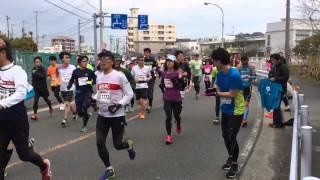 第1回横浜マラソンを走るキマグレン ISEKIと転倒トラブル.