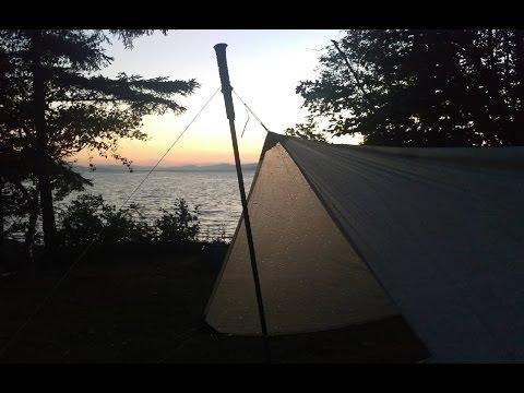 Ultralight Tarp Setup: A-Frame and Half Pyramid