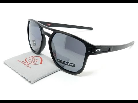 a83c58928 Oakley Latch Beta OO9436 0554 54 Preto Semi-Espelhado Polarizado ...