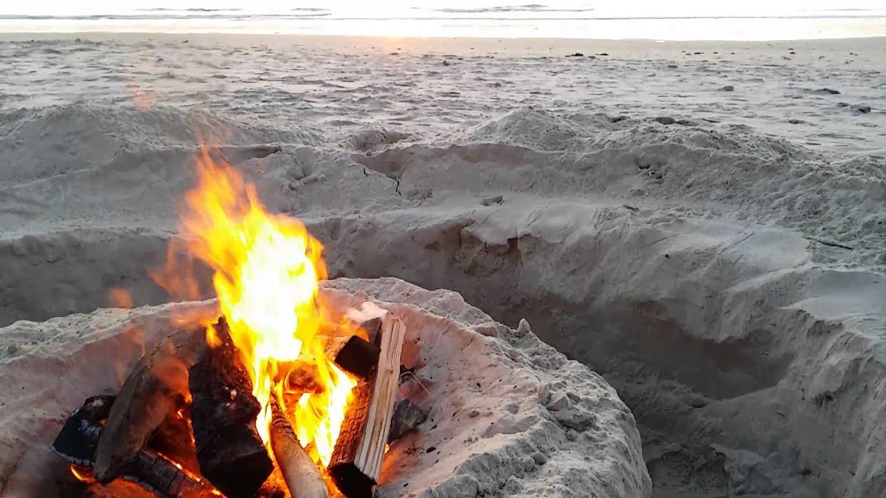 Oregon coast sunset beach fire pit