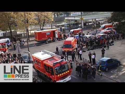 Incendie à la Maison de la Radio / Paris - France 31 octobre 2014