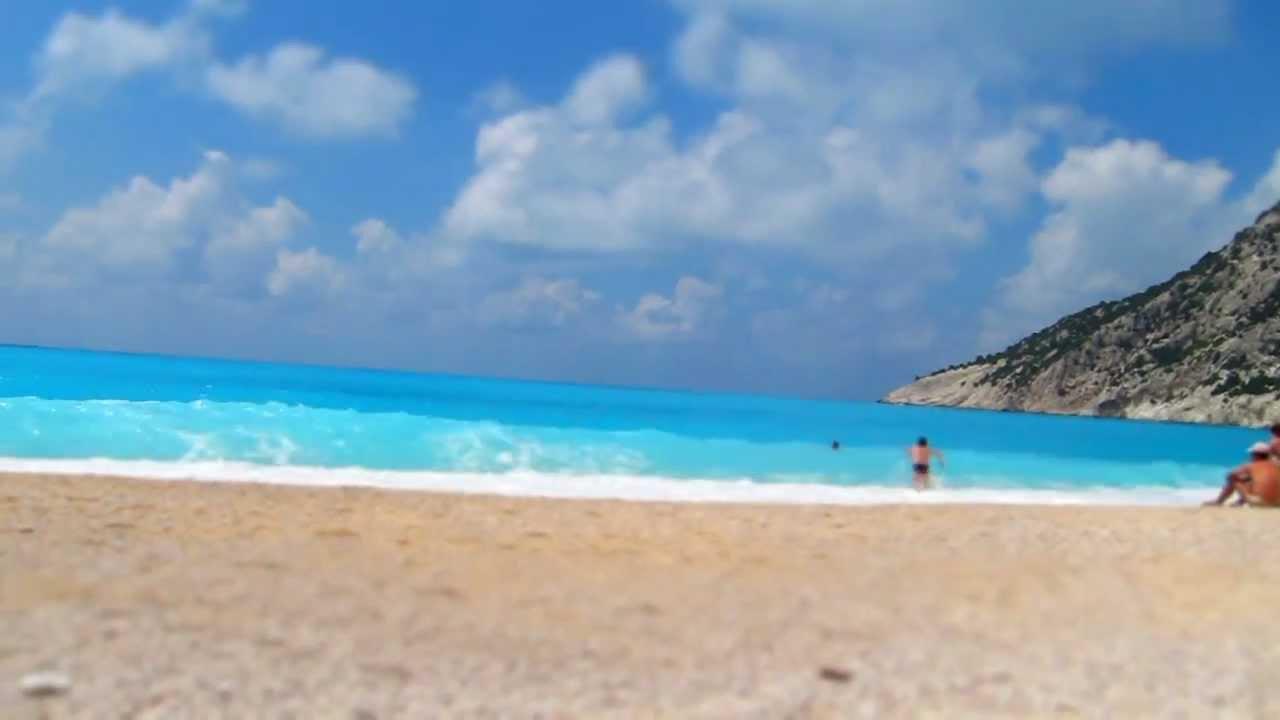 Myrtos Beach Cephalonia Greece Youtube