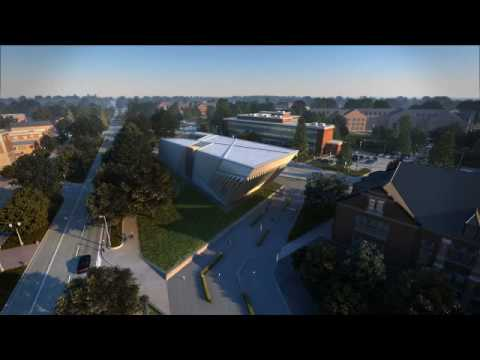 Eli and Edythe Broad Art Museum fly through animation Zaha Hadid
