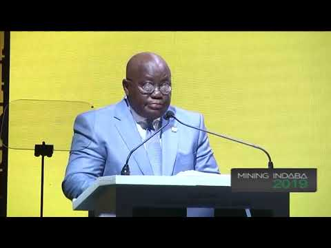 Ghana's Nana Akufo-Addo Calls For Win-win Mining Deals At Mining Indaba