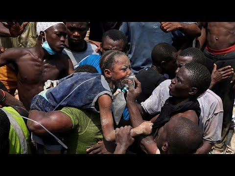 Nigeria school collapse: Rescue begins to save trapped people