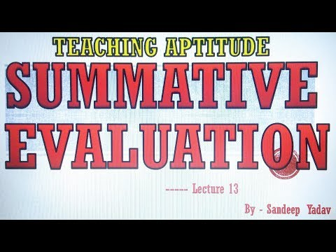 SUMMATIVE EVALUATION  TEACHING APTITUDE PAPER 1 NTA UGC NET