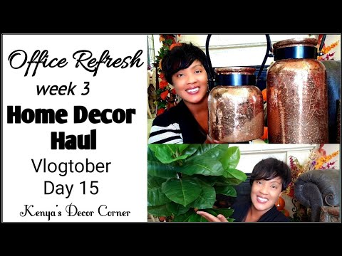 Transitional Home Decor Haul | Room of The Month Week 3 | Sneak Peek | Vlogtober Day 15