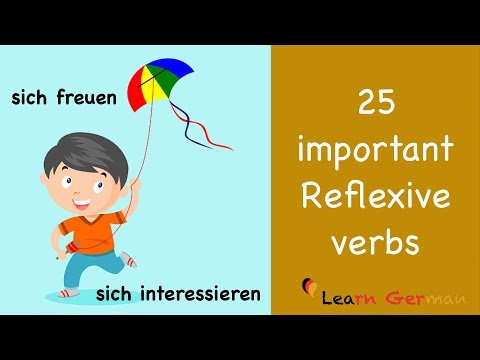 Learn German | German for daily use | 25 important reflexive verbs | B1 | A2
