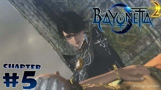 Bayonetta 2 - Chapter 5 Gameplay - The Cathedral of Cascades - Wii U [ HD ]