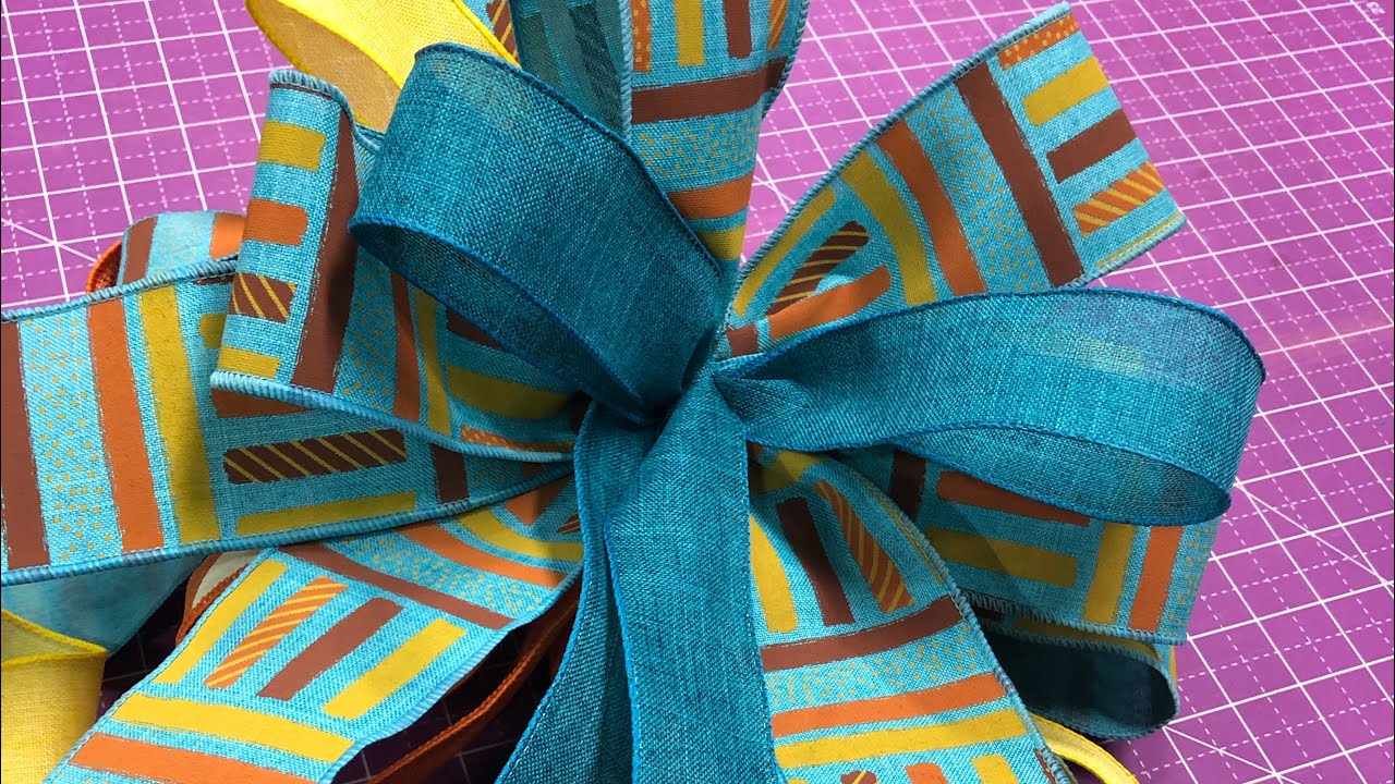 How to make a Fall bow